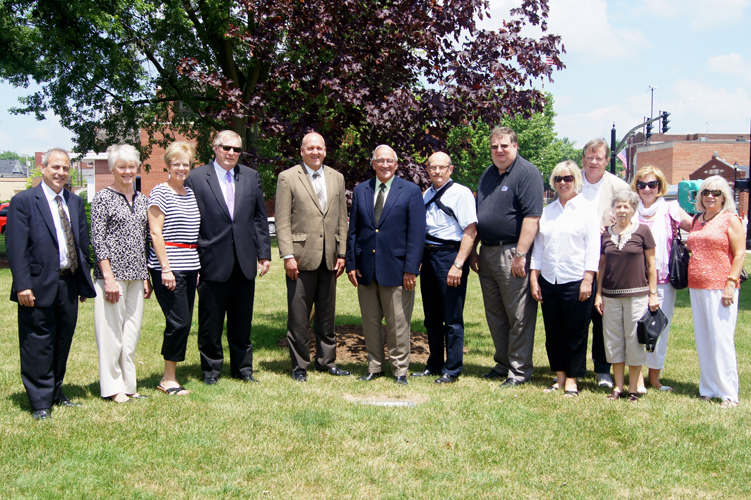 Our Office Staff, County Commissioners And Don Purdy Family